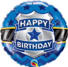 "Birthday Badge Foil Balloon (18"") 1pc"